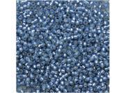 Toho Round Seed Beads 15/0 #2102 - Silver Lined Milky Montana Blue (8 Grams)
