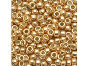 Toho Round Seed Beads 8/0 #PF551 - Permanent Finish Galvanized Rose Gold (8g)