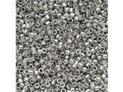 Miyuki Delica Seed Beads 11/0 - Palladium Plated DB038 7.2 Grams