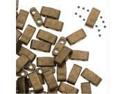 Miyuki Half Tila 2 Hole Rectangle Beads 5x2.3mm - Matte Metallic Gold 7.8 Grams