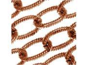 Nunn Design Antiqued Copper Plated  Textured Cable Chain By The Ft