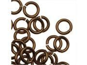 Artistic Wire Chain Maille Jump Rings, 18 GA / 3.57mm Diam, 160 Pcs, Ant Brass