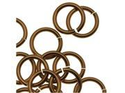 Artistic Wire Chain Maille Jump Rings, 18 GA / 5.95mm Diam, 100 Pcs, Ant Brass