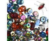 SuperDuo, Czech Glass 2-Hole Seed Beads 5.5x3mm, 24 Gram Tube, All That Glitters