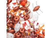 SuperDuo, Czech Glass 2-Hole Seed Beads 5.5x3mm, 24 Gram Tube, Autumn Fire