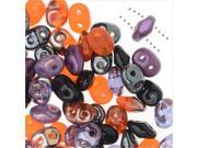SuperDuo, Czech Glass 2-Hole Seed Beads 5.5x3mm, 24 Gram Tube, Haunting