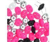 SuperDuo, Czech Glass 2-Hole Seed Beads 5.5x3mm, 24 Gram Tube, Diva Pink