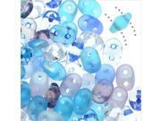 SuperDuo, Czech Glass 2-Hole Seed Beads 5.5x3mm, 24 Gram Tube, Frozen