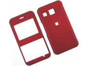 Rubberized Hard Plastic Phone Cover Case Red For LG Invision CB630