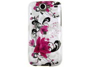 Durable Plastic Design Phone Cover Case Red Flower on White For Nexus One