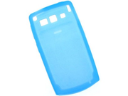 Wrap On Durable Silicone Gel Skin Case Cover Transparent Light Blue For Samsung Saga i770