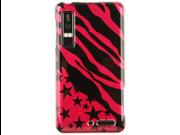 Hard Plastic Hot Pink Zebra Star Design Phone Protector Case for Motorola Droid 3
