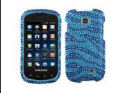 Hard Plastic Diamante Dark Blue Zebra Phone Protector for Samsung Galaxy Appeal I827