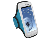 Vertical Pouch Sports Armband Baby Blue Neoprene Phone Case for Samsung Galaxy S4 / HTC One / Sony Xperia Z / Huawei Premia 4G
