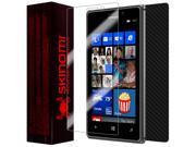 Skinomi Carbon Fiber Black Phone Skin+Screen Protector Film for Nokia Lumia 1020