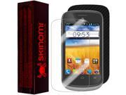 Skinomi Carbon Fiber Black Phone Skin+Screen Protector Cover for AT&T Avail 2