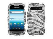 Hard Plastic Diamante Black Zebra Skin Phone Protector for Samsung Vitality / Admire R720