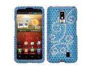 Hard Plastic Diamante Flourish Phone Protector for LG Spectrum VS920