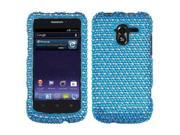 Hard Plastic Diamante Blue/White Dots Phone Protector for ZTE Avid 4G N9120