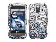 Hard Plastic Diamante Bubble Flow Phone Protector for LG Optimus V / Optimus U / Optimus S / Rumor Touch