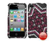 Hard Plastic Diamante Solitaire Phone Protector for Apple iPhone 4 / iPhone 4S