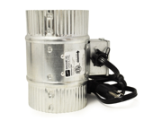 """Suncourt -- Inductor 4"""" In-Line Duct Fan With Cord  (DB204-CRD)"""