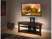 "Avista Sovereign Plus TV Stand for LCD/Plasma TV Up To 55""/130 lbs. Capacity, Tempered Glass, Swivel and Tilt TV Mount, FoldTech & Tool-less Assembly"