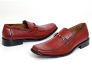 Mens Dress Shoes Slip on Loafers Dressy Buckle Long Tapered Front Free ShoeHorn