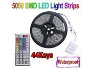 Abco Tech®Waterproof 150 Color Changing SMD5050 LED Lighting Strip Kit RGB 16.4ft +44 Remote