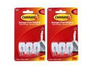 3M Command Small Wire Hooks, 0.5lb Capacity, White, Pack of 6 (17067EA)