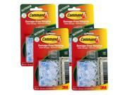 3M Command All Weather Hooks and Strips, Plastic, Small, 64 Clips & 80 Strips/Pack