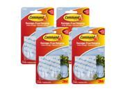 3M Command Clear Hooks and Strips, Plastic, Medium, 8 Hooks with 16 Adhesive Strips Per Pack