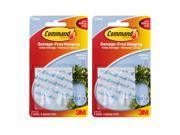 3M Command Clear Hooks and Strips, Plastic, Medium, 4 Hooks with 8 Adhesive Strips Per Pack