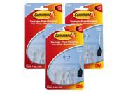 3M Command Utensil Hooks, Clear, 0.5 lb Capacity, Pack of 9