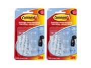3M Command Clear Hooks and Strips, Plastic, Mini, 12 Hooks with 16 Adhesive Strips Per Pack