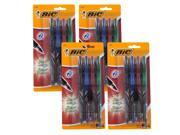 BIC Z4+ Stick Rollerball Pens, 0.7mm, Assorted Ink, 4 Packs of 4 (Z4CP41-Ast)