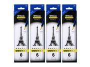 Bazic Drawing & Sketching Soft Lead Pencils, Pack of 4 (744)