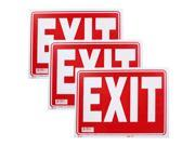 Bazic Small 9 x 12 Inches Exit Sign, Pack of 3 (S-17)