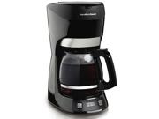 12 Cup Programmable Coffeemaker, Black
