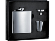 6 oz Stainless Steel Flask Gift Set For Groomsmen Gifts