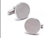 Round Titanium Engravable Cufflinks