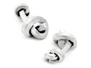 Antique Silver tone Rail Knot Cufflinks