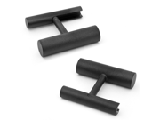 Iron Black Cylinder Flip Cufflinks
