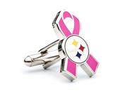 Pittsburgh Steelers Breast Cancer Awareness Cufflinks