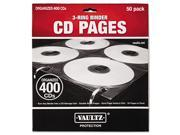 Two-Sided CD Refill Pages for Three-Ring Binder, 50/Pack - VZ01415