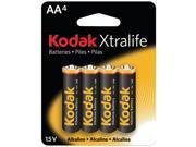 KODAK XLAA4 Xtralife(TM) Alkaline Batteries (AA&#59; 4 pk)