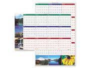 Earthscapes Nature Scene Reversible/Erasable Yearly Wall Calendar, 24 x 37, 2013 - HOD393