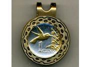 Gorgeous 2-tone Trinidad & Tobago Hummingbird-Coin-Ball Marker-HC-130