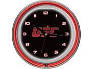 UFC Chrome Double Ring Neon Clock