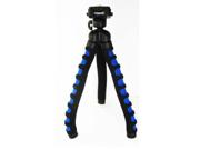 "Polaroid 12"" Flexible Tripod With Protective Grip-Foam Coating (Blue)"